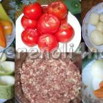 Овощное ассорти с фаршем