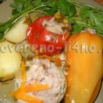 Овощное ассорти с мясом и рисом