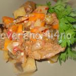 Овощное рагу с говядиной готово