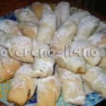 Творожное печенье -рогалики с повидлом