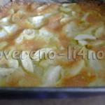 торт с дыней и яблоками