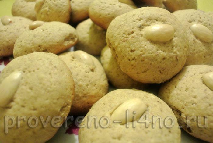 песочное печенье с миндалем рецепт
