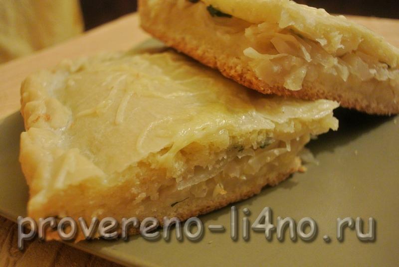 Пирог с капустой варлей